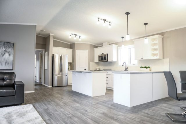 Westview Modular Home - Kitchen, Dining Room And Living Room - Show Home Model